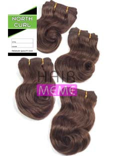 North Curl Pixie 100% Human Hair Body 4pcs Weaving