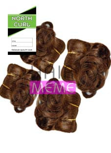 North Curl 100% Human Hair Pixie Round Curl 4pcs Weaving