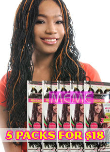 July 4th Special- Superline Collection Mini Curly Locs 40""