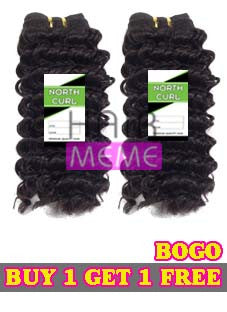 North Curl Human Hair Blend Deep Wave Weaving