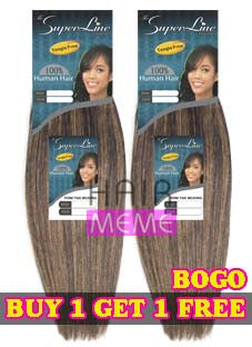 Superline Collection 100% Human Hair Perm Yaky Weave