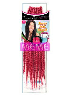 "Superline Collection Short Box Braid 14"" Pre-loope Crochet Braid"