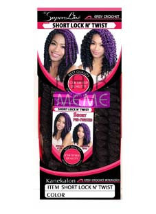 Superline Collection  Short Lock N' Twist Pre-looped Crochet Braid