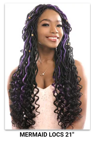 Superline Collection Mermaid Locs 21""