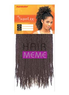 Superline Collection Soul Twist Bulk 14 Crochet Braid Hair Meme