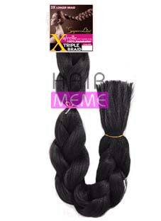 Superline Collection 100% Afrelle Kanekalon X Triple Braid 84inch