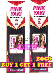Superline Collection 100% Human Hair Pink Yaki Weave