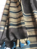 Espresso Striped Cotton Stole