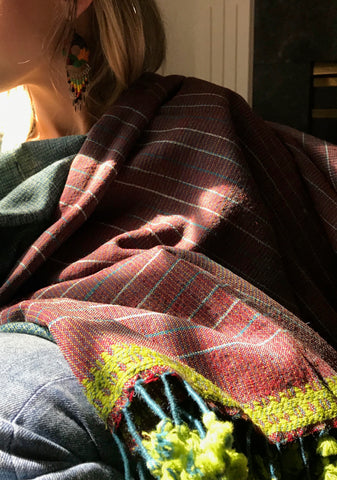 Handwoven Shiraz Stripe Shawl