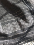 Black and White Handwoven Shawl/ Throw