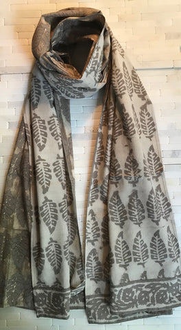 Cotton Banana Leaf Print Stole
