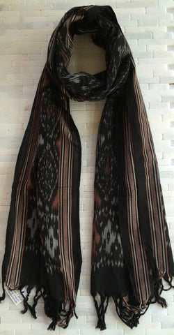 Stylish Hand Woven Cotton Ikat Stole