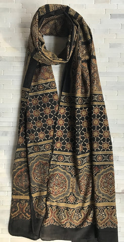 Geometric Ajrak Cotton Stole