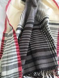 Espresso and Cream Striped Cotton Stole