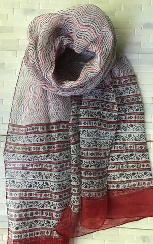 Strawberry Foam Kotah Cotton Stole