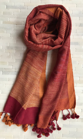 Organic Holiday Cotton Stole
