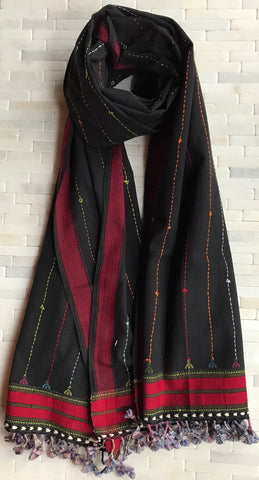 Cotton, Rabadi Stole with Tassels