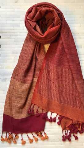 Organic Cotton Handwoven Stole