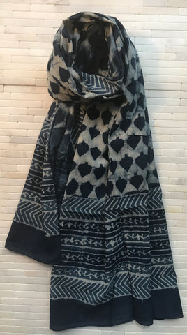 Cotton Indigo Dot Stole
