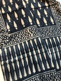Cotton Indigo Block Printed Stole