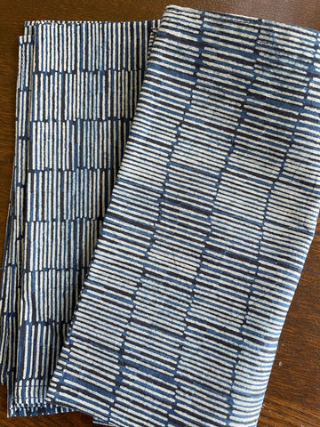 Indigo Cotton Sketch Table Napkins