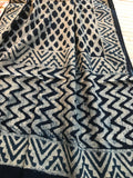 Cotton Indigo Hand Block Printed Stole