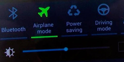 Turn on airplane mode for charge the battery faster