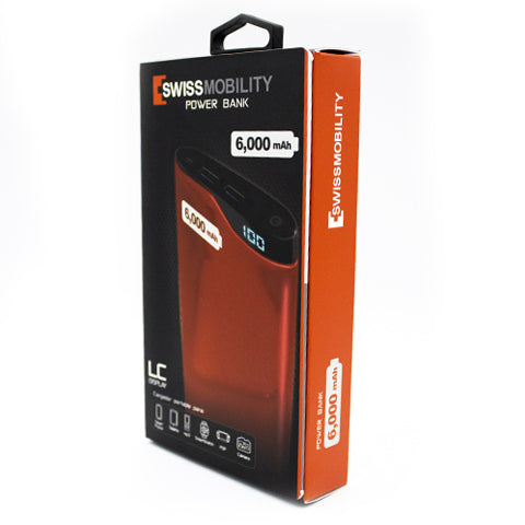 Power bank SWISSMOBILITY de 6000 mAh