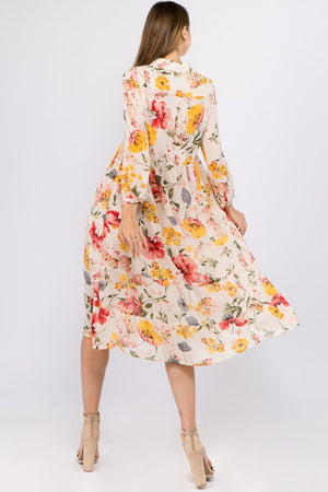 Floral Chiffon Slip Dress / Duster - Jori & June