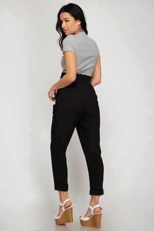 High Waisted Paper Bag Pant - Jori & June
