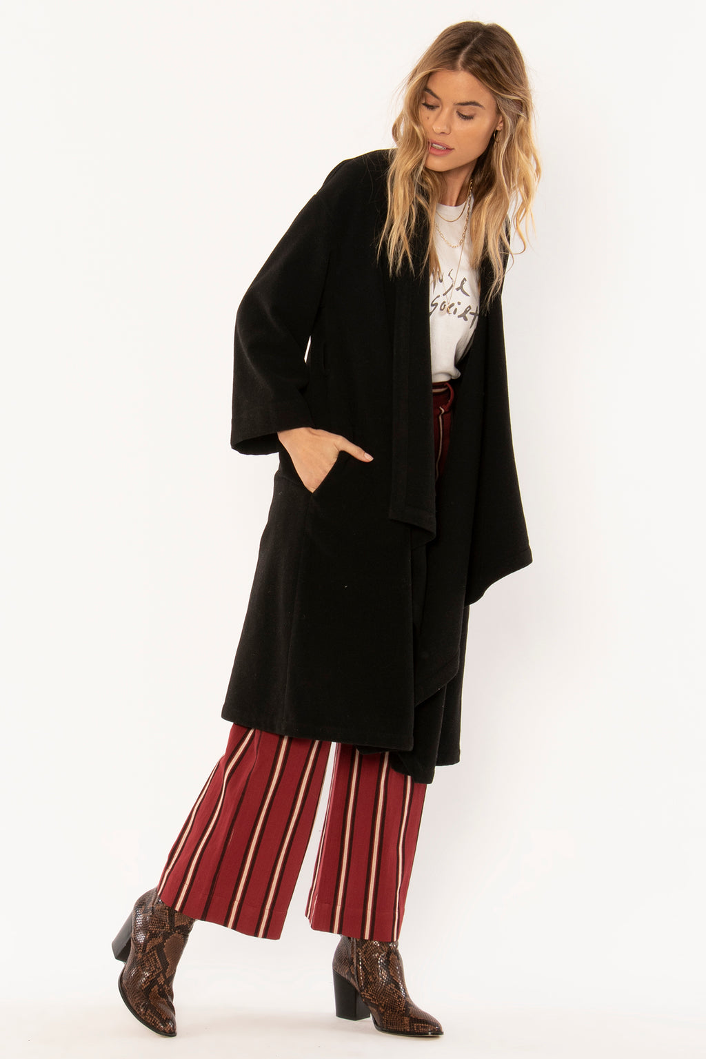 Mara Woven Jacket - Black - Jori & June