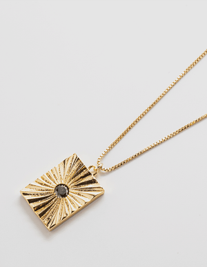 Black Pave Medallion Necklace - Jori & June