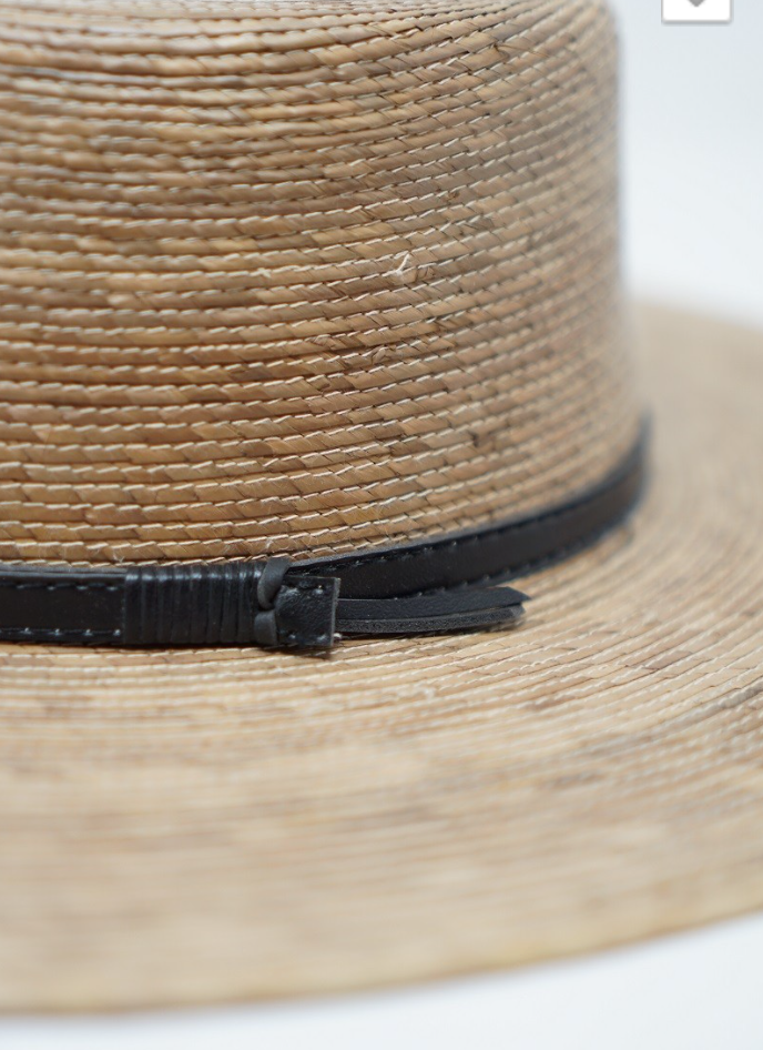 Palm Straw Boater Hat - Jori & June