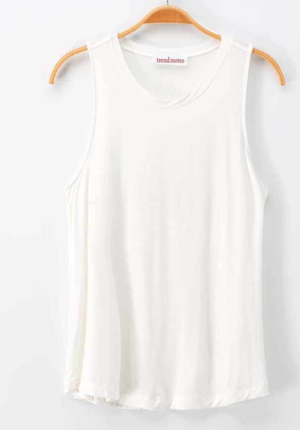Basic Crewneck Tank - White - Jori & June