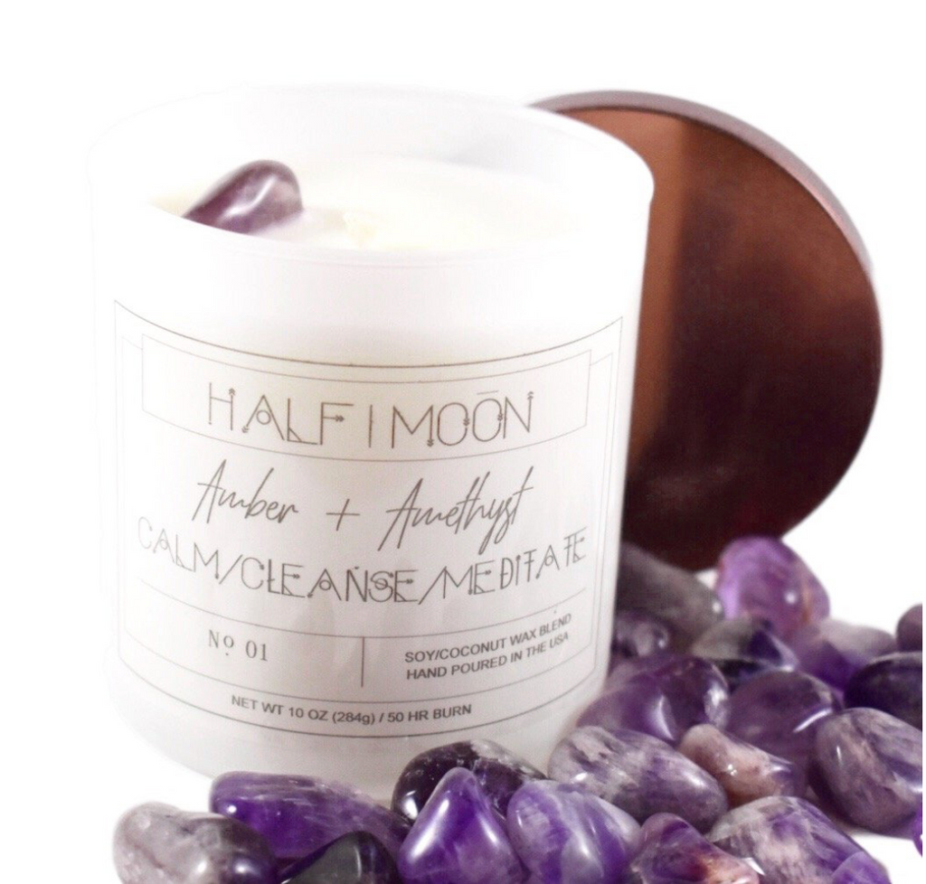 Amber + Amethyst -- HALF|MOON Candle Co. - Jori & June