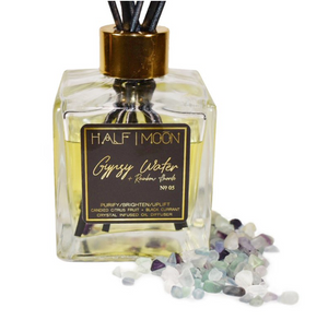 Gypsy Water + Rainbow Fluorite - Reed Diffuser - Jori & June