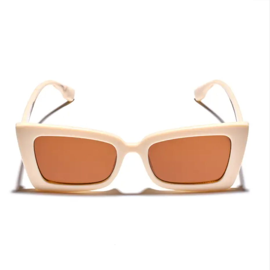 Shady Beach Sunglasses - Off White - Jori & June