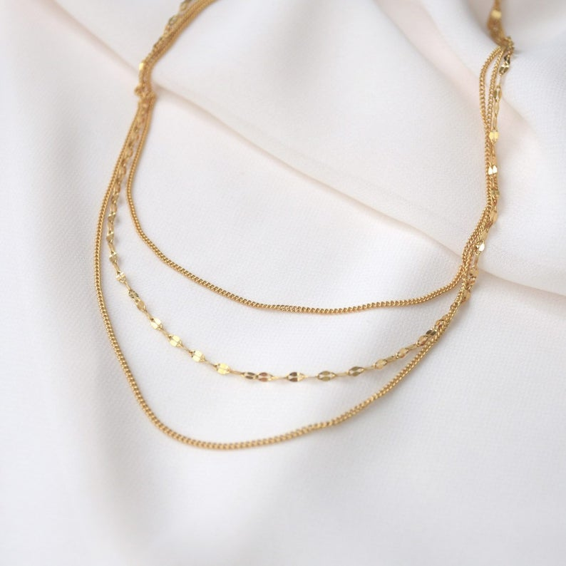 Three Layer Chain Necklace Set - Jori & June