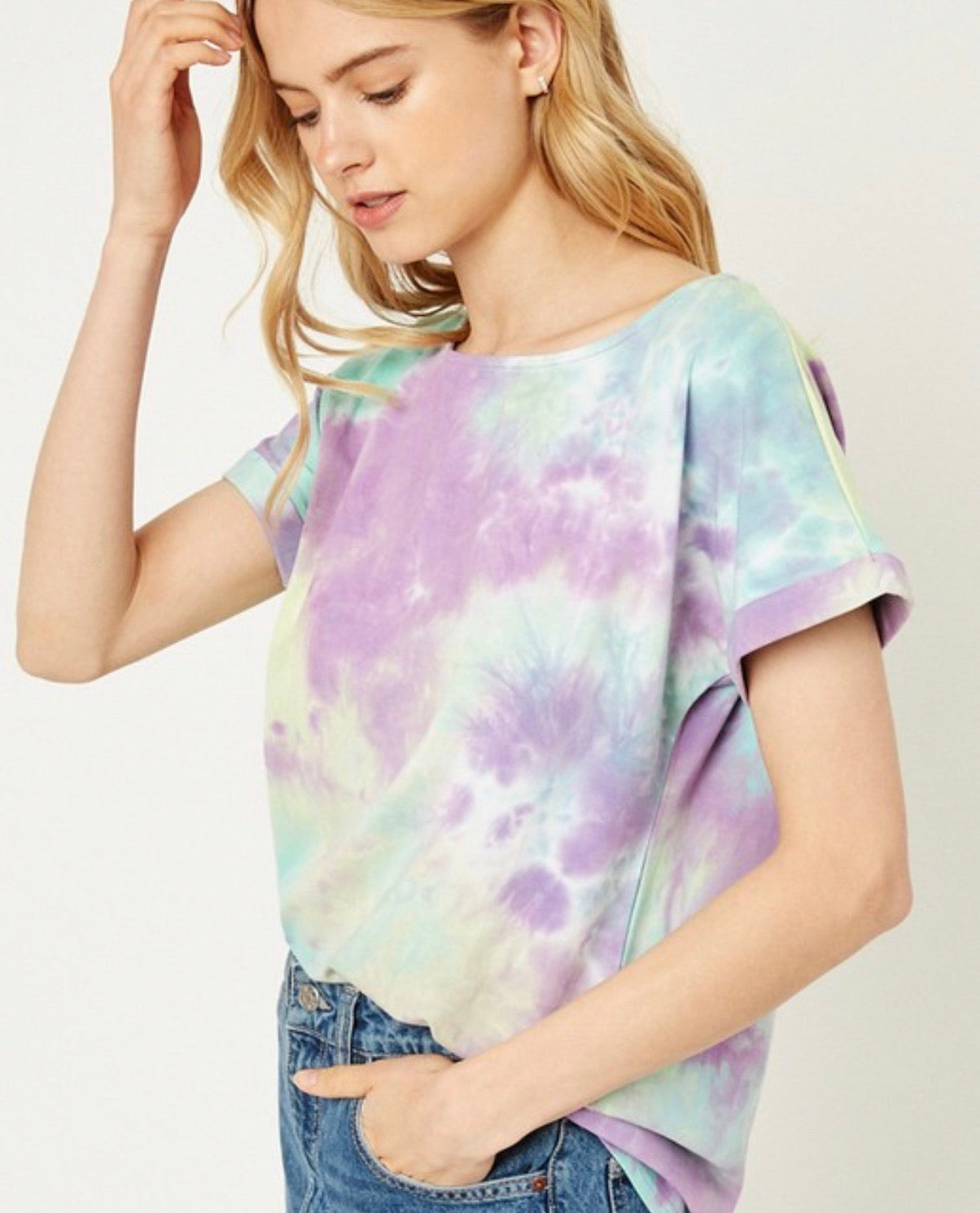 Purple Tie Dye Tee - Jori & June