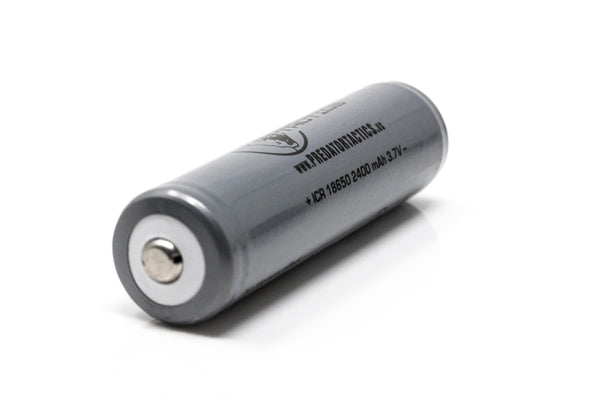 Single 18-650 2400mAh Rechargeable Battery