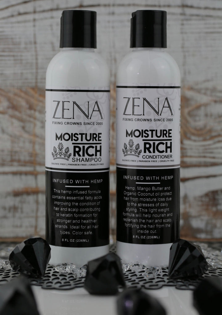 Zena Moisture Rich Shampoo & Conditioner Infused with Hemp