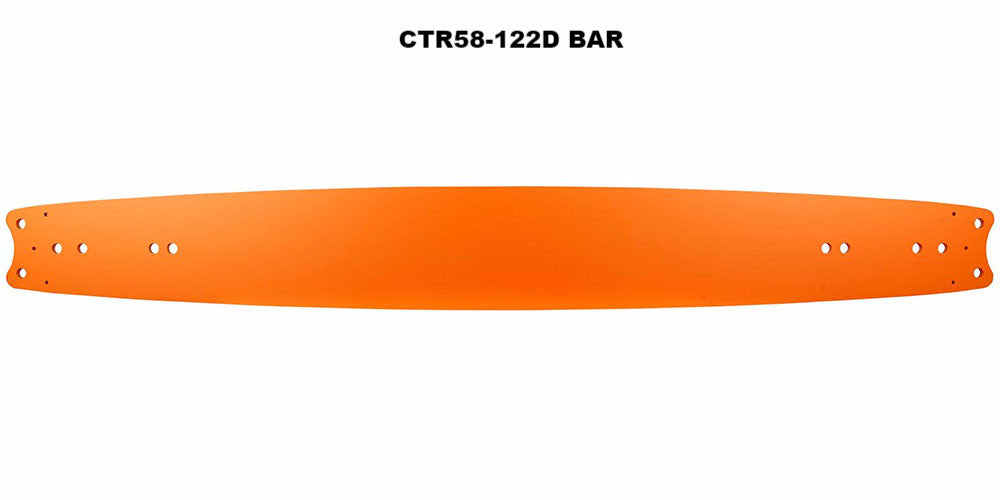 "¾"" GB® Titanium® Double Ender Bar CTR58-122D"