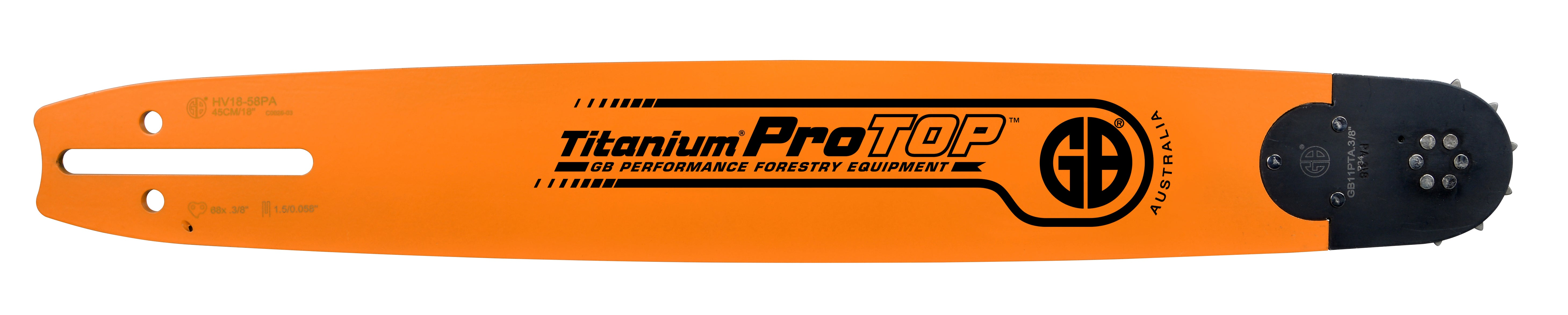 GB Titanium®ProTOP Chainsaw Bar HV18-58PA