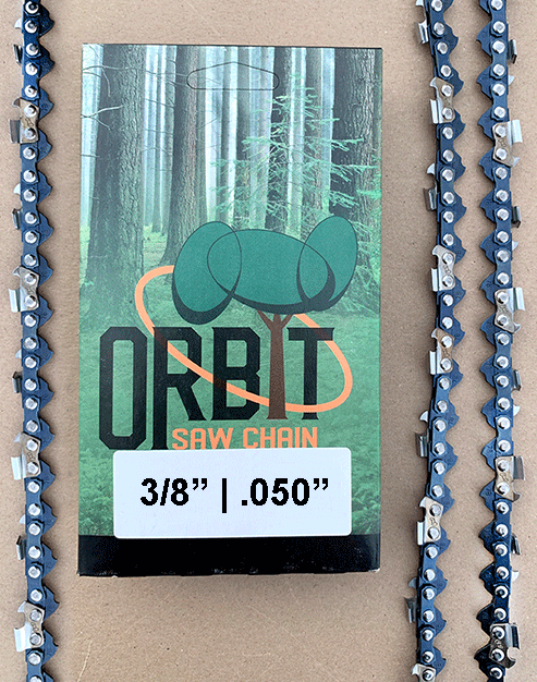 "Orbit 3/8"" 0.50 Gauge Chainsaw chain 72 drive link"