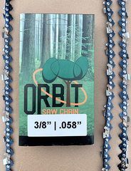 "Orbit 3/8"" 0.58 Gauge Chainsaw chain 60 drive link"