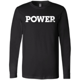 Power White Bella+Canvas Men's Jersey Long Sleeve