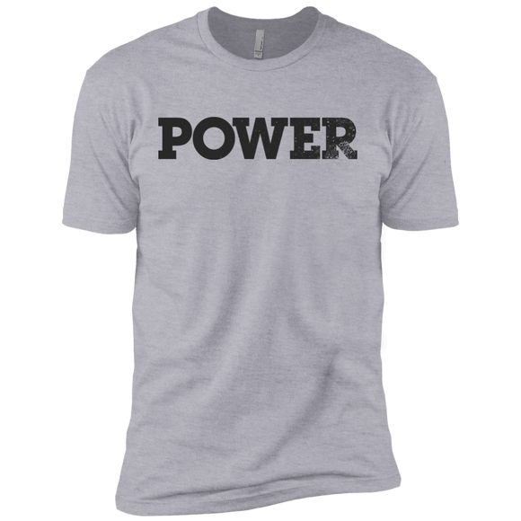 Power Black Next Level Premium Short Sleeve Tee