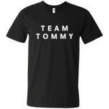 Team Tommy White Men's Printed V-Neck T