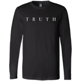 Truth White Bella+Canvas Men's Jersey Long Sleeve