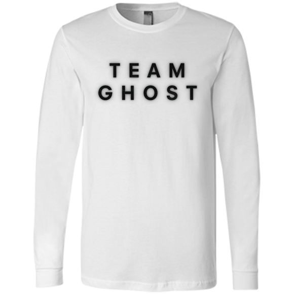Team Ghost Black Bella+Canvas Men's Jersey Long Sleeve